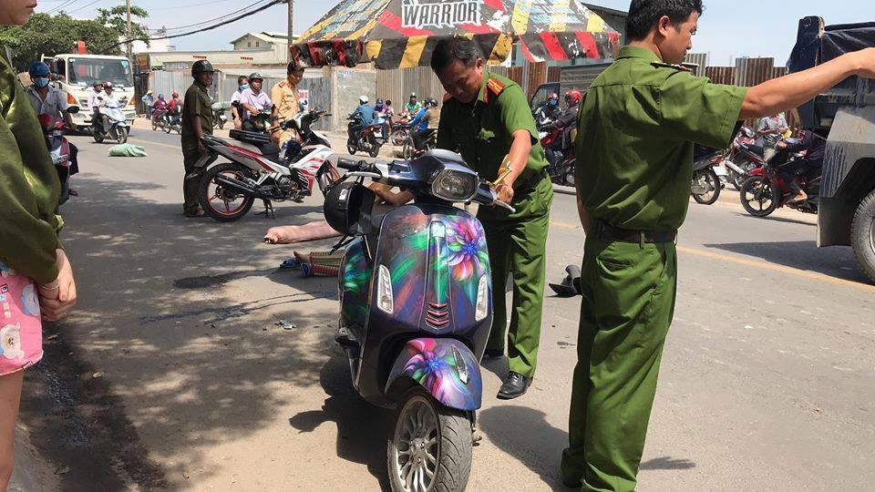 Tránh xe ba gác chạy ẩu, cô gái trẻ bị xe tải tông tử vong ở Sài Gòn - Ảnh 1.