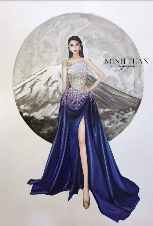 Miss International 2018: Thùy Tiên lộ trang phục dạ hội lộng lẫy - Ảnh 2.