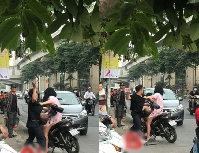 Nam thanh niên túm tóc, đấm túi bụi vào người bạn gái trên phố Hà Nội rồi phân bua Nó láo - Ảnh 2.