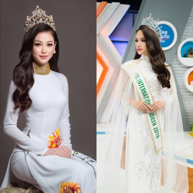Đăng quang Hoa hậu tại 2 cuộc thi nhan sắc Quốc tế, style Phương Khánh và Hương Giang có khá nhiều điểm chung thú vị - Ảnh 7.