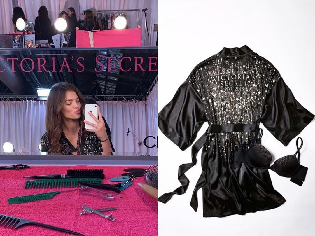 Hậu trường Victoria's Secret Show 2018: Không diện áo choàng hồng như mọi năm, dàn mẫu diện áo đen siêu quyến rũ - Ảnh 1.