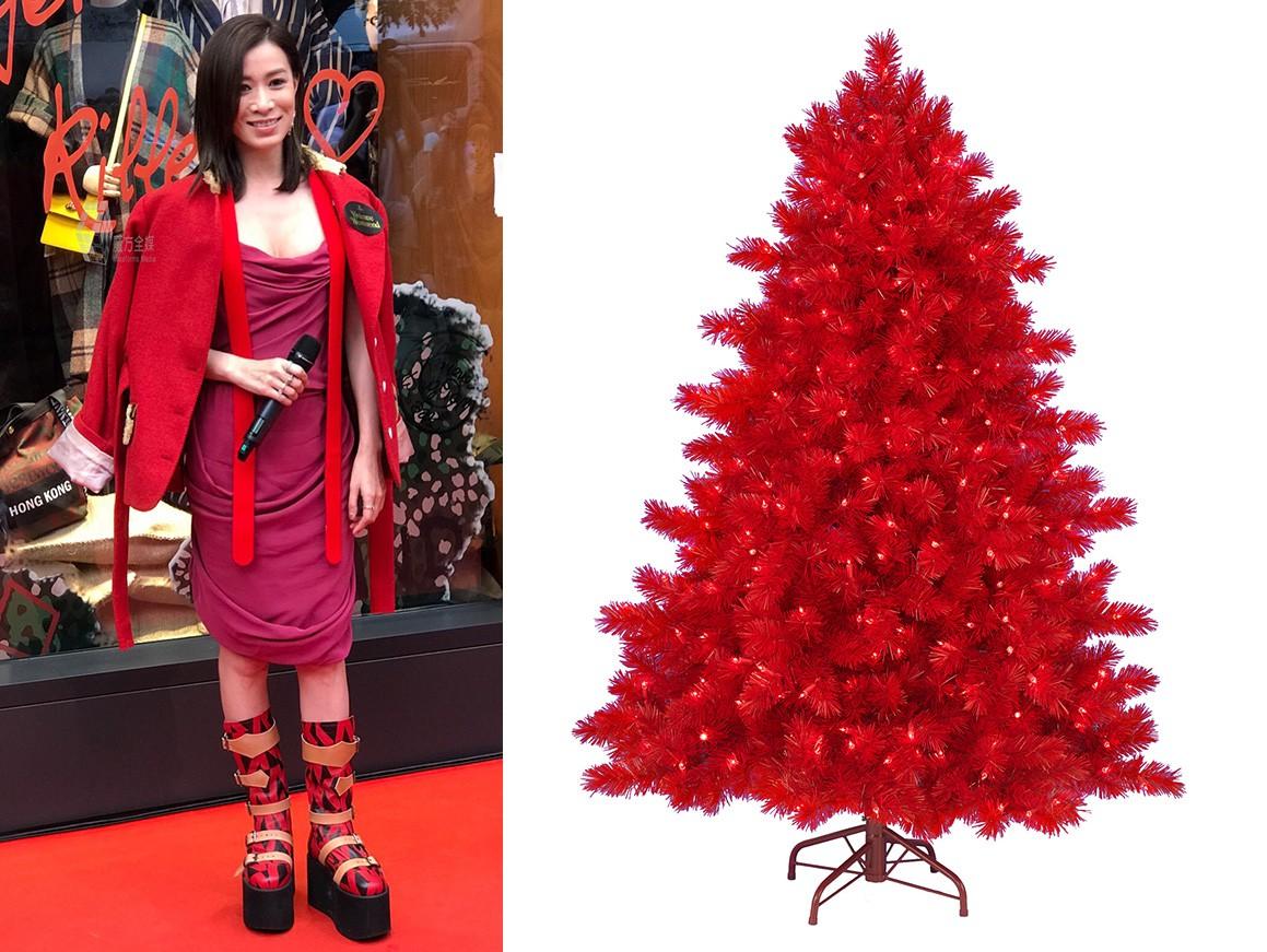 Halloween vừa qua, Giáng Sinh còn chưa tới nhưng Xa Thi Mạn đã rất hào hứng nhập cuộc với set đồ cosplay cây thông Noel - Ảnh 6.