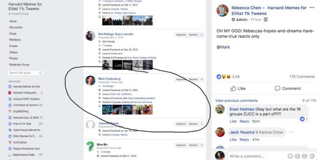 Zuckerberg tham gia nhóm chơi meme trên Facebook