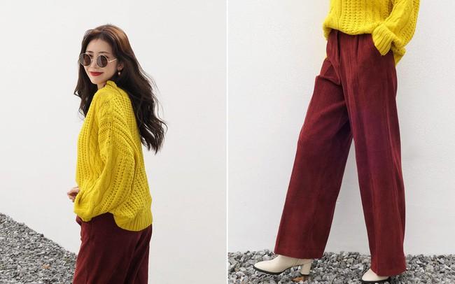 Áo len và quần ống rộng chính là chân ái của các nàng công sở trong thời tiết này - Ảnh 2.
