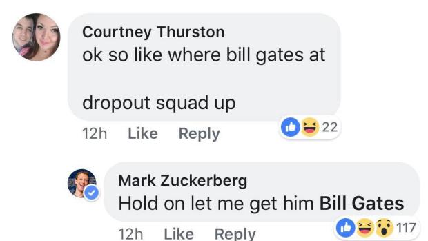 Lại còn có ý định rủ cả Bill Gates vào nhóm cho vui