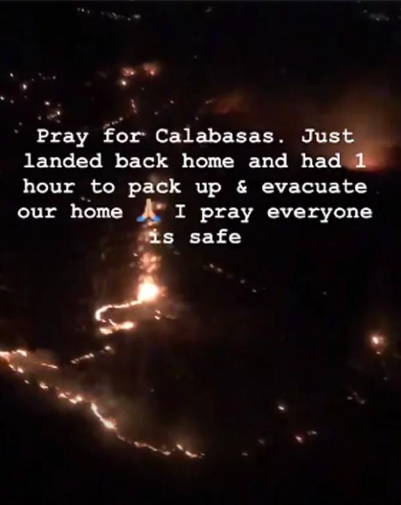 Kim Kardashian gấp rút bỏ biệt thự chạy lấy người vì đám cháy lớn lan đến - Ảnh 2.