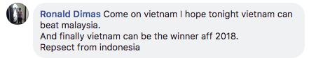 Dân mạng nước ngoài hết lòng ủng hộ và tin tưởng đội tuyển Việt Nam sẽ giành ngôi vô địch AFF Cup 2018 - Ảnh 11.
