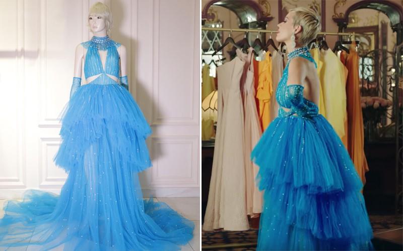 Mặc đi diễn đã thành thường lệ, giờ đây Katy Perry còn diện hẳn thiết kế Công Trí trong MV mới nhất - Ảnh 6.