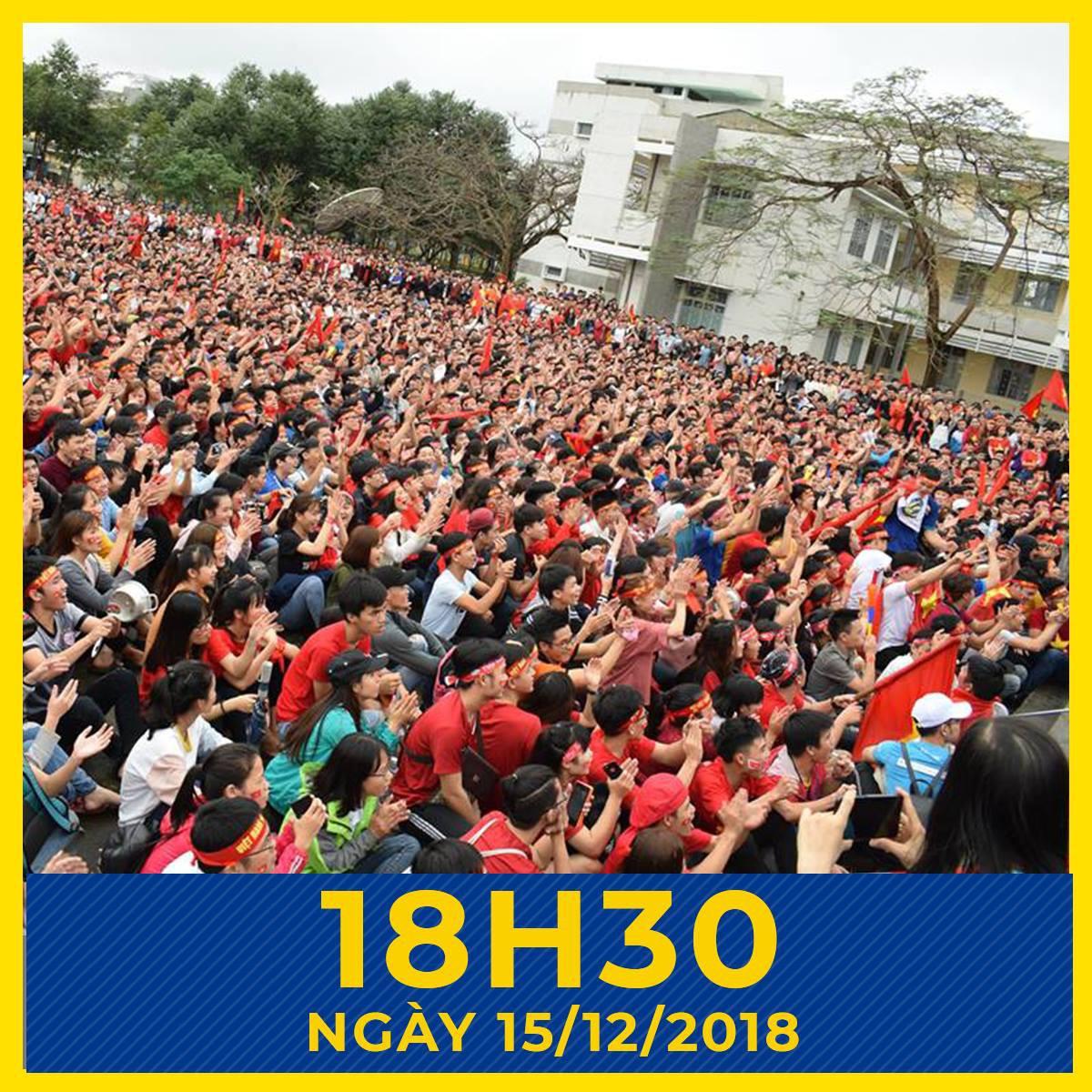 Offline hàng loạt trường Đại học lớn nhất nước, sẵn sàng cháy hết mình cùng đội tuyển Việt Nam - Ảnh 3.