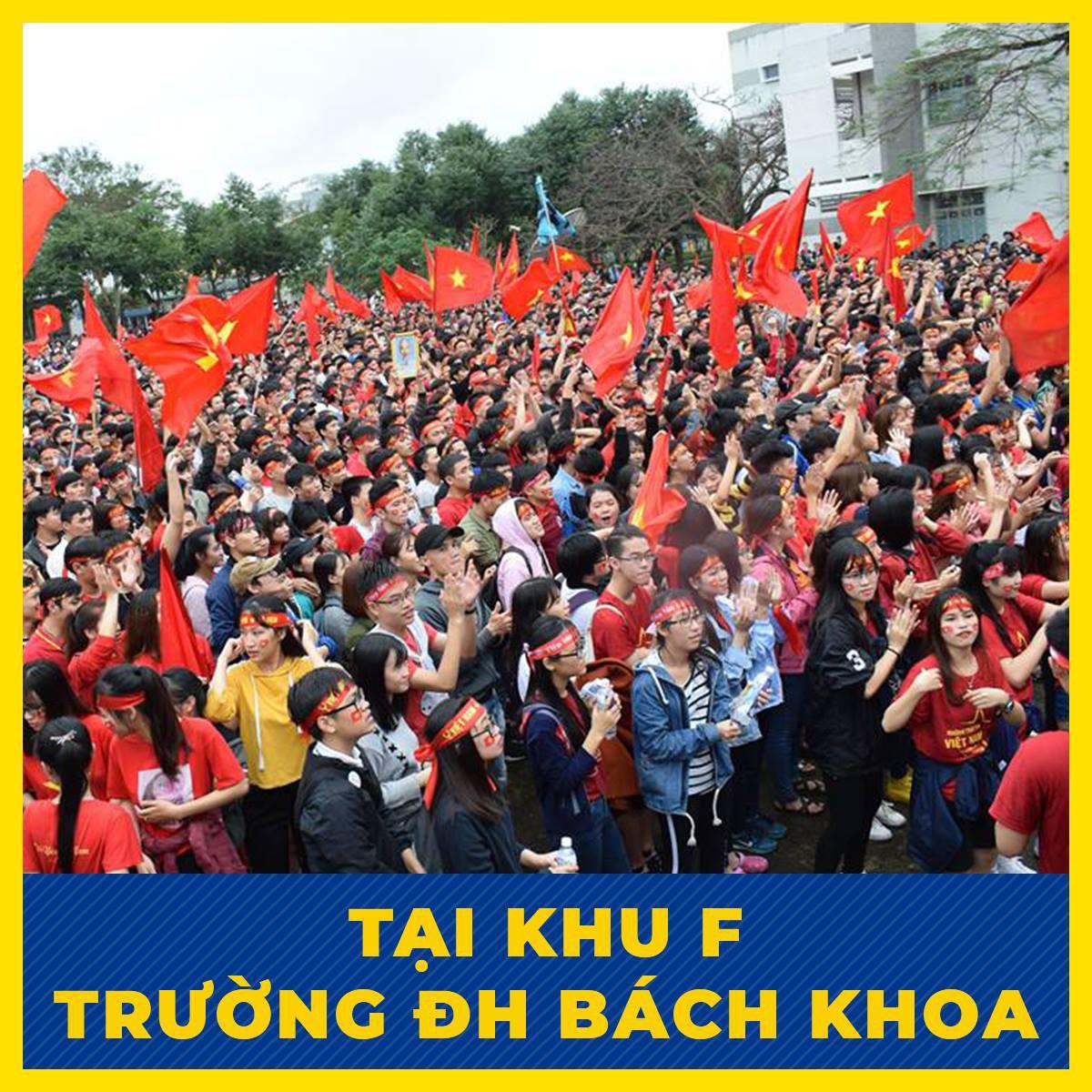 Offline hàng loạt trường Đại học lớn nhất nước, sẵn sàng cháy hết mình cùng đội tuyển Việt Nam - Ảnh 4.
