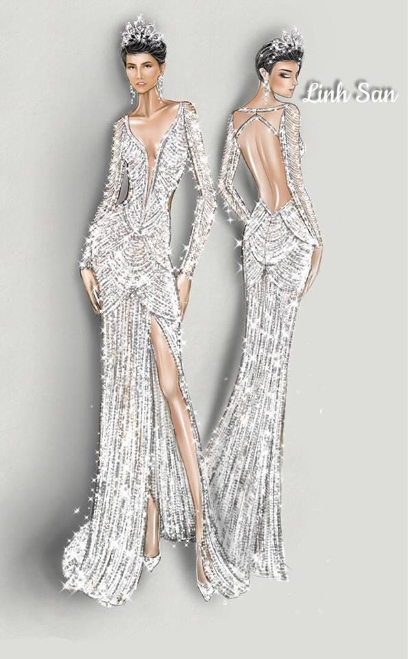 Cận cảnh chiếc váy HHen Niê mặc khi lọt top 5 Miss Universe 2018: đính 3000 viên đá quý, mất hơn 1 tháng để thực hiện - Ảnh 2.