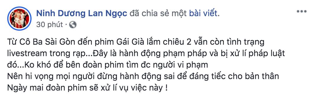 Sau Cô Ba Sài Gòn, đến lượt Gái Già Lắm Chiêu 2 bị livestream bất hợp pháp hơn 1 tiếng đồng hồ rồi chiếu lên mạng - Ảnh 3.