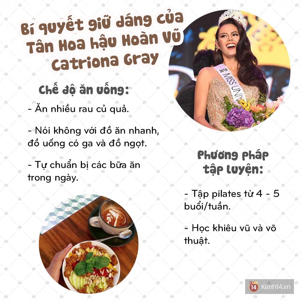 Khám phá bí quyết để sở hữu được vóc dáng thon gọn, nóng bỏng như Tân Hoa hậu Hoàn vũ Catriona Gray - Ảnh 4.
