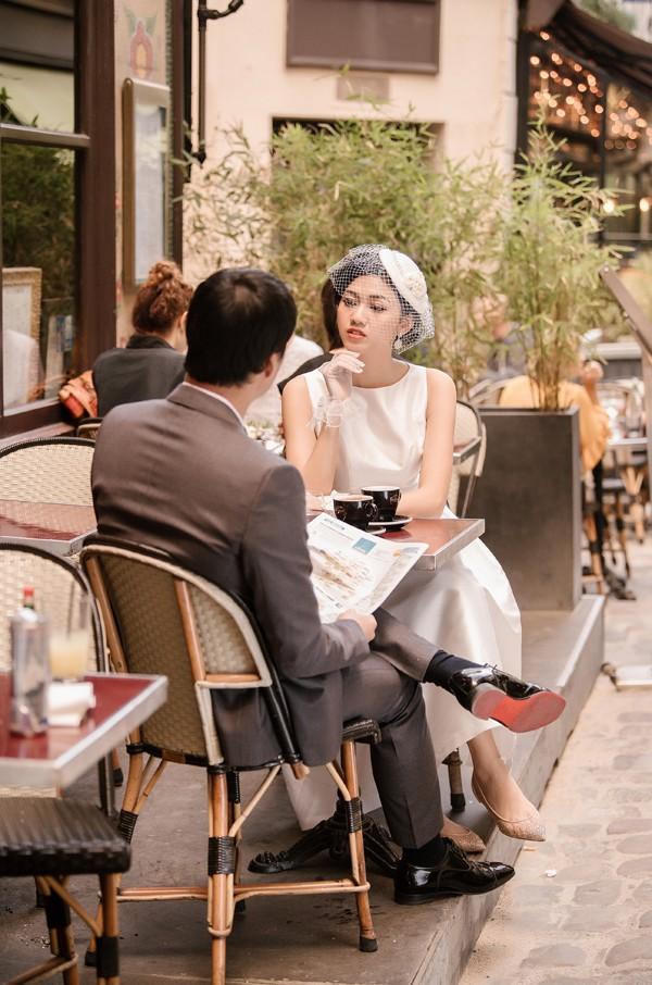 Trọn bộ ảnh cưới tại Pháp của Á hậu Thanh Tú và ông xã doanh nhân trước giờ G hôn lễ - Ảnh 3.