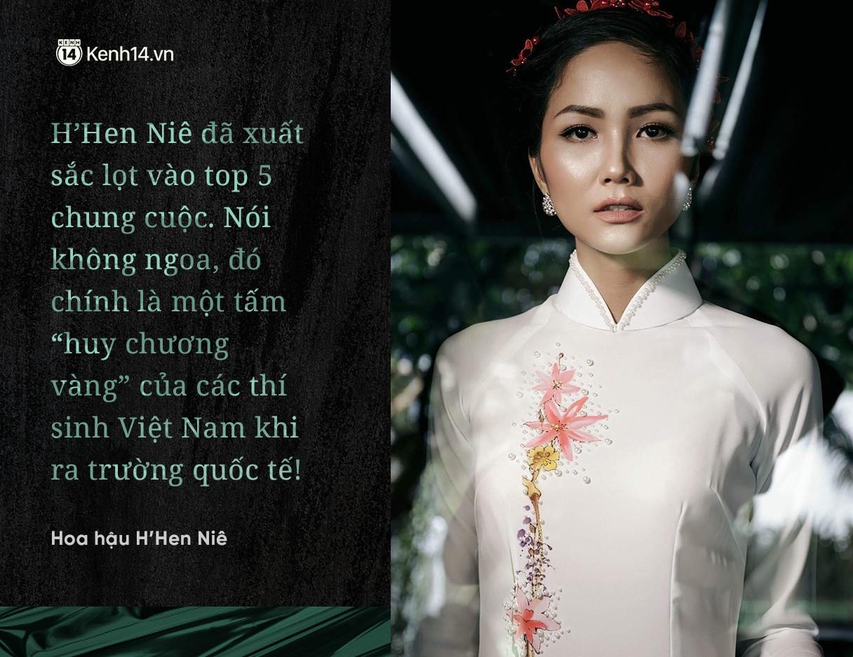 """Chuyện phiếm Hoa hậu: Thành tích Top 5 của H'Hen Nie thực sự là """"Huy chương vàng"""" cho làng hoa hậu Việt Nam - Ảnh 2."""