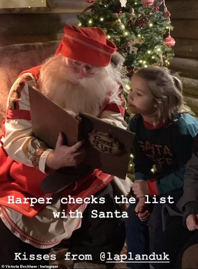 Đi chơi Giáng sinh cùng cả nhà, Harper Beckham háo hức cực dễ thương khi gặp ông già Noel - Ảnh 3.