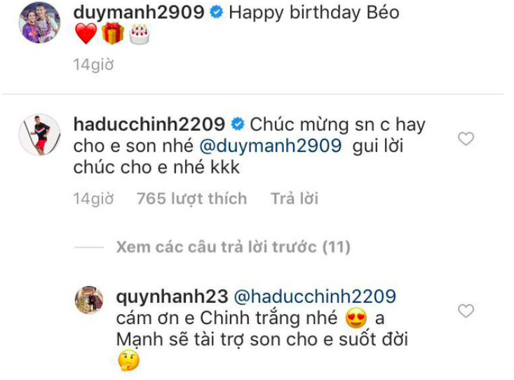 Nhanh nhảu vào chúc mừng sinh nhật công chúa béo Quỳnh Anh, Đức Chinh lại để lộ sở thích cực điệu - Ảnh 1.