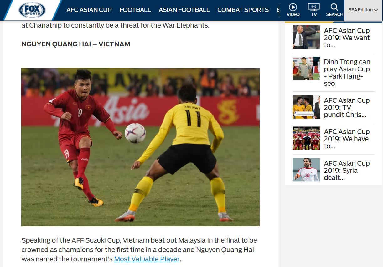 Quang Hải sánh ngang cùng cầu thủ số 1 châu Á trong danh sách 5 ngôi sao sáng nhất Asian Cup 2019 - Ảnh 1.