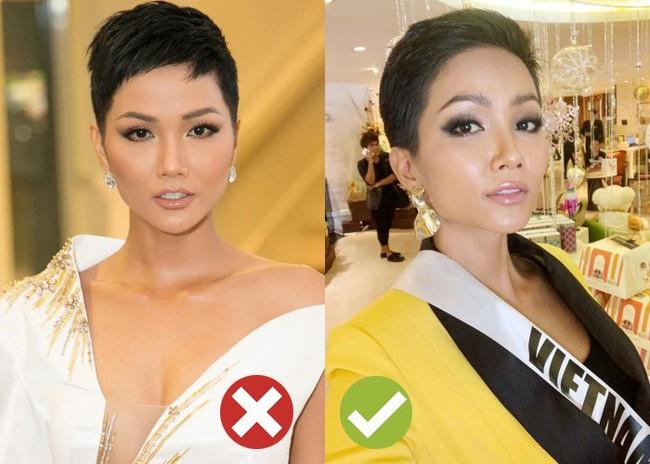 Tạo kỳ tích tại Miss Universe với da nâu tóc tém, nhưng HHen Niê nhiều lần dìm nhan sắc bằng kiểu tóc xấu khó cưỡng - Ảnh 3.