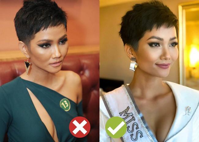 Tạo kỳ tích tại Miss Universe với da nâu tóc tém, nhưng HHen Niê nhiều lần dìm nhan sắc bằng kiểu tóc xấu khó cưỡng - Ảnh 4.