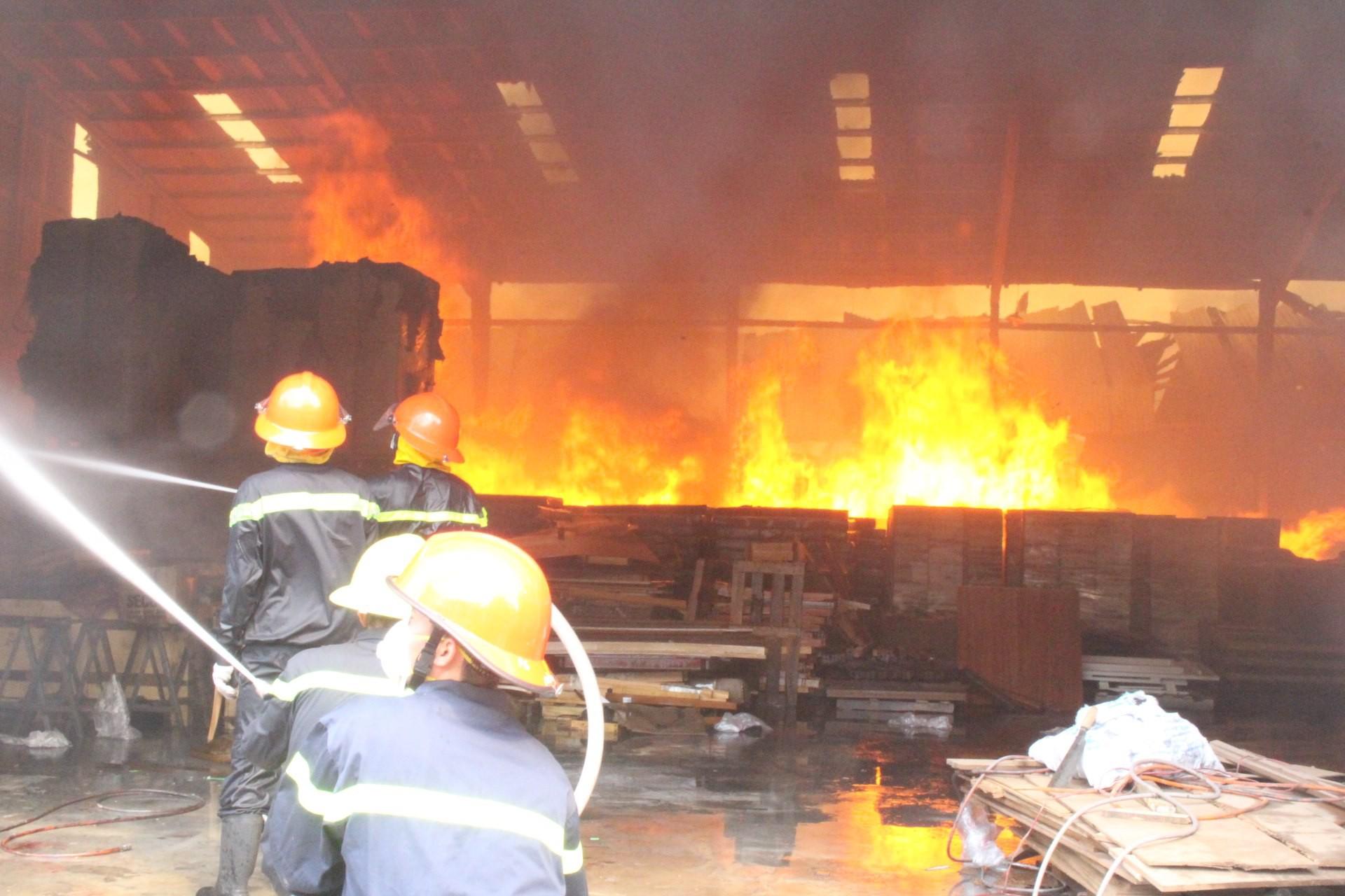 Xưởng gỗ cháy kinh hoàng, nhiều công nhân mất việc ngày cận Tết - Ảnh 2.