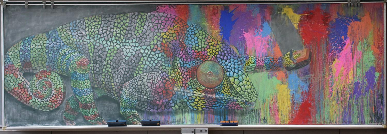 Tài năng như học sinh Nhật Bản: Chỉ phấn và bảng đen vẫn tạo nên những tác phẩm tuyệt đỉnh như thế này! - Ảnh 1.