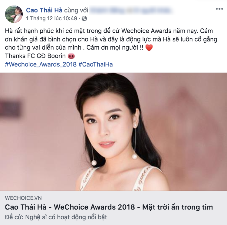 Nghệ sĩ Vbiz đồng loạt kêu gọi fan đề cử, quyết ẵm giải thưởng tại WeChoice Awards 2018 - Ảnh 12.
