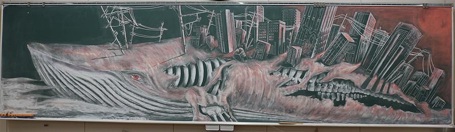 Tài năng như học sinh Nhật Bản: Chỉ phấn và bảng đen vẫn tạo nên những tác phẩm tuyệt đỉnh như thế này! - Ảnh 7.