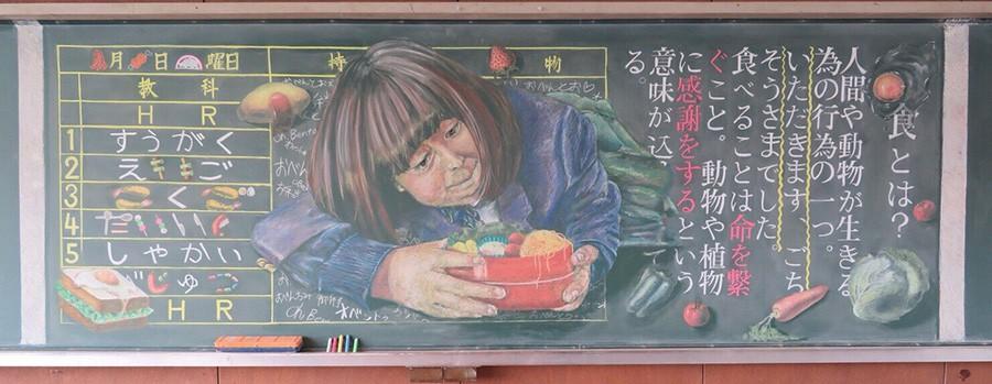 Tài năng như học sinh Nhật Bản: Chỉ phấn và bảng đen vẫn tạo nên những tác phẩm tuyệt đỉnh như thế này! - Ảnh 13.