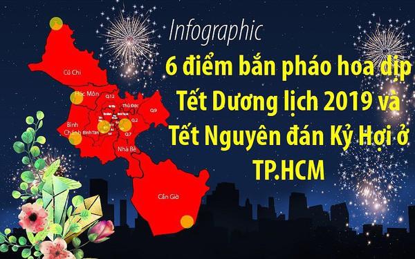 TP.HCM: 6 điểm bắn pháo hoa dịp Tết Dương lịch 2019, Kỷ Hợi - Ảnh 1.