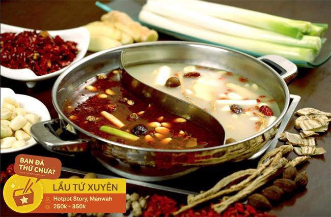 Thách thức team ăn cay với các loại lẩu cay nồng cho buổi tiệc tất niên ngày lạnh ở Hà Nội - Ảnh 6.