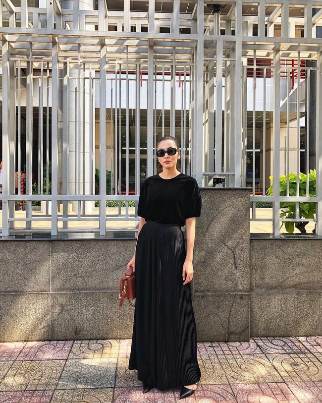Street style sao Việt cuối năm: Hà Hồ không đi tất dù trời lạnh, Kỳ Duyên và Minh Triệu cùng diện đồ màu nóng - Ảnh 4.