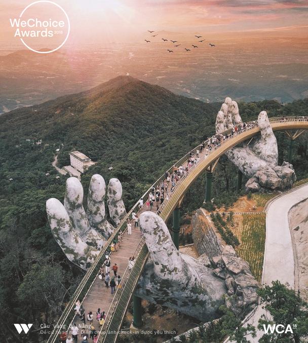 Cầu Vàng Đà Nẵng vượt mặt Landmark 81, dẫn đầu Địa điểm check-in được yêu thích nhất của WeChoice Awards 2018!  - Ảnh 2.