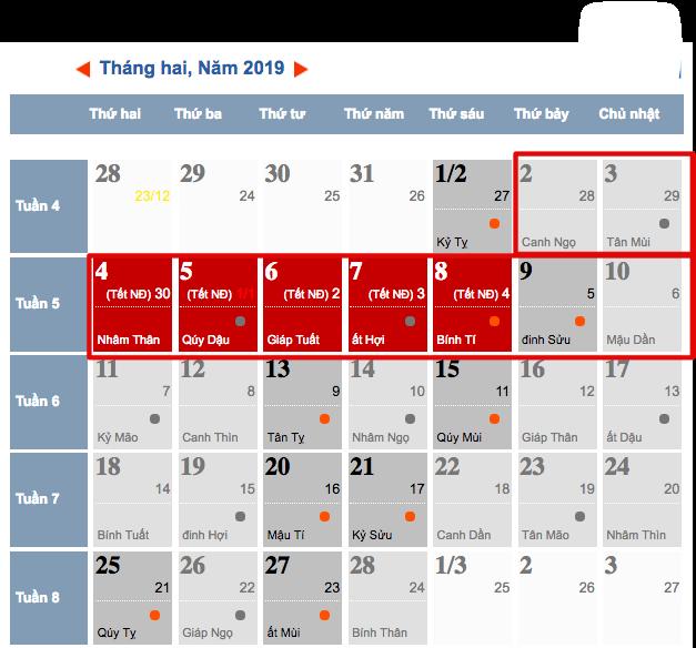Dịp Tết dương lịch và Tết âm lịch 2019 người lao động được nghỉ mấy ngày? - Ảnh 3.