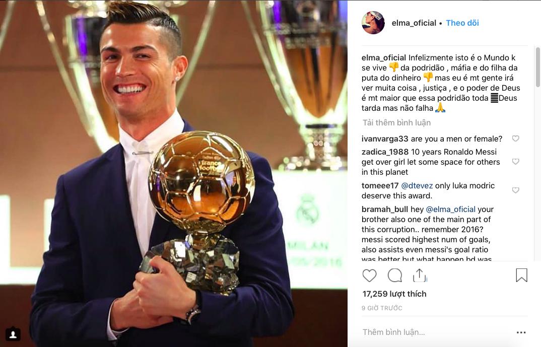 Cô chị của Ronaldo ám chỉ xã hội đen và những đồng tiền bẩn thỉu khiến cậu em mất Quả bóng vàng - Ảnh 1.