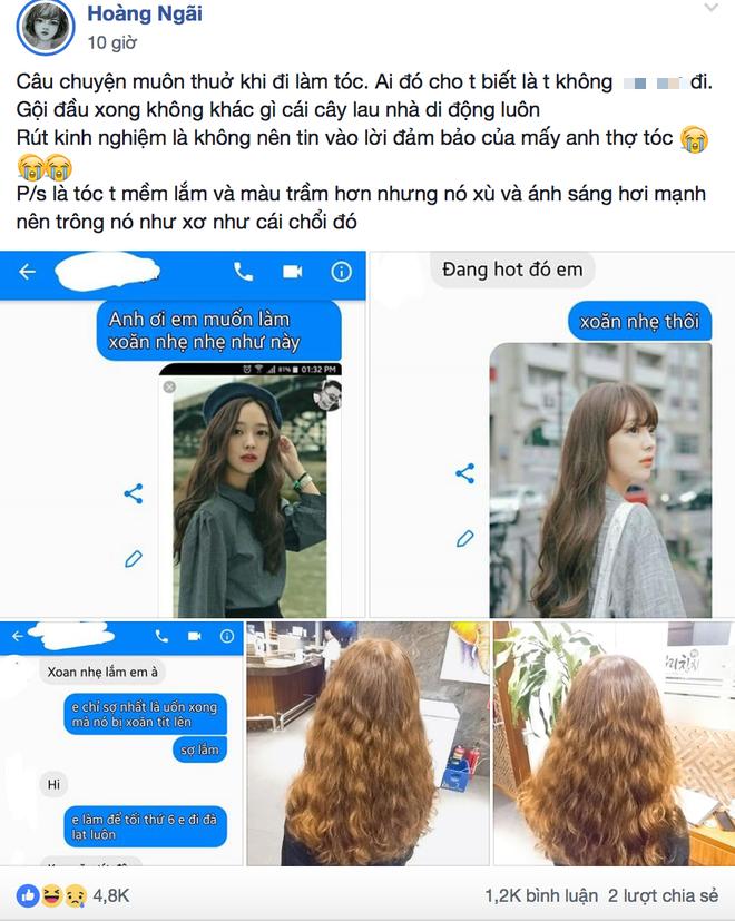 Thiếu nữ gục ngã khi tốn tiền triệu làm tóc xoăn nhẹ Hàn Quốc, kết quả lại ra giống cây lau nhà di động - Ảnh 1.
