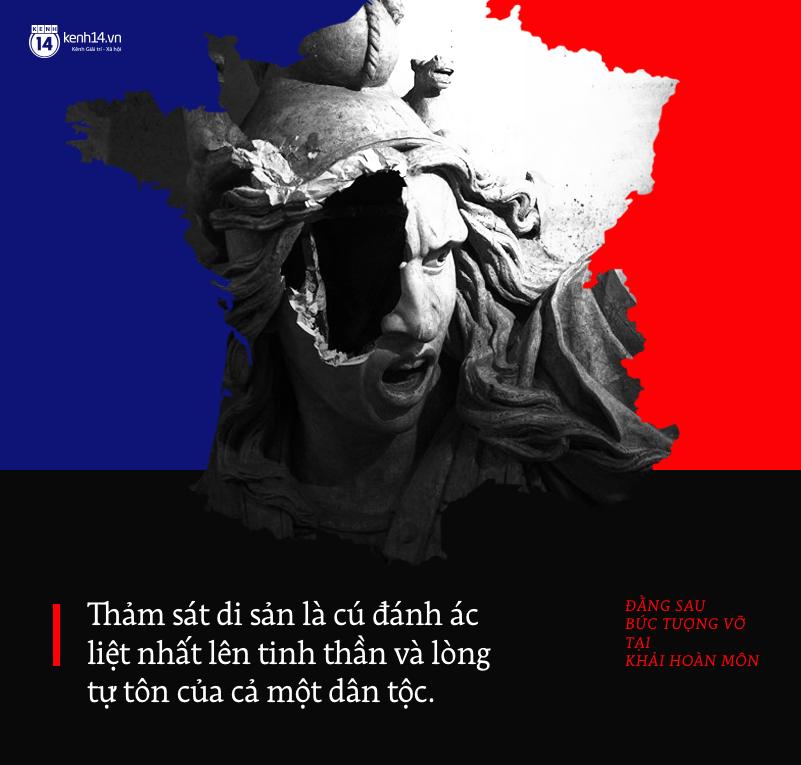 Bức tượng vỡ tại Khải Hoàn Môn Pháp: Nỗi buồn của những cuộc thảm sát di sản - Ảnh 2.