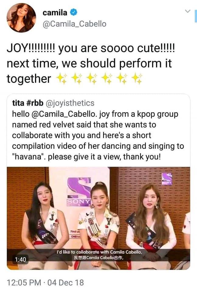 Hành động này của Camila Cabello khiến fan mong chờ về màn kết hợp với Joy (Red Velvet) và Rosé (BLACKPINK) - Ảnh 1.