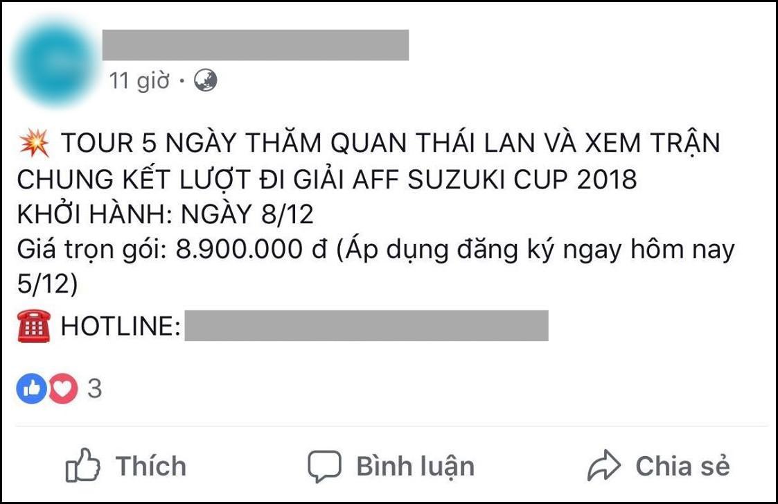 Tiên tri Malaysia thua trận, nhiều công ty mở bán tour cho người hâm mộ xem chung kết AFF Cup 2018 tại... Thái Lan - Ảnh 2.