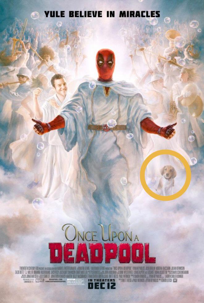 """Bạn có phát hiện ra """"quả trứng phục sinh"""" về John Wick trong poster phim Deadpool Giáng Sinh không? - Ảnh 1."""