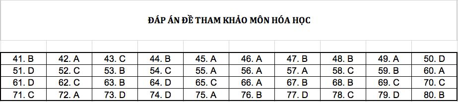 Đáp án chi tiết tất cả các môn đề thi mẫu THPT Quốc gia năm 2019 - Ảnh 4.