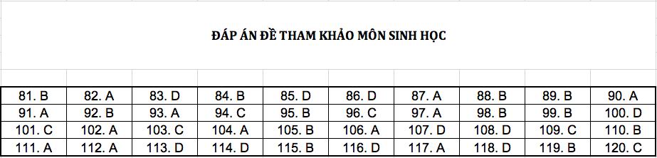 Đáp án chi tiết tất cả các môn đề thi mẫu THPT Quốc gia năm 2019 - Ảnh 5.