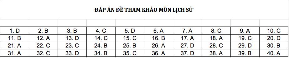 Đáp án chi tiết tất cả các môn đề thi mẫu THPT Quốc gia năm 2019 - Ảnh 6.