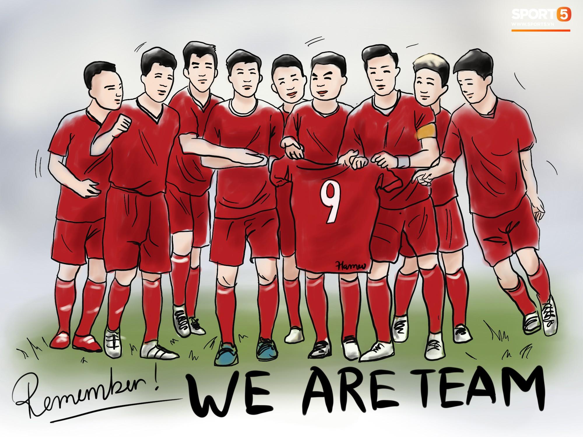Bộ tranh chibi cute hết cỡ về hành trình của tuyển Việt Nam tại AFF Cup
