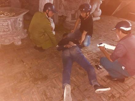 Đối tượng nổ súng trong chùa ở Thái Nguyên khai gì? - Ảnh 1.