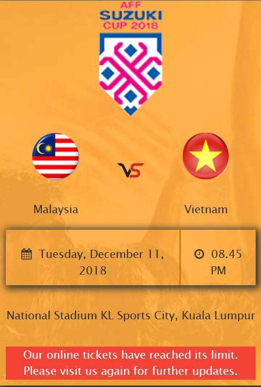 30.000 vé bán đợt đầu trận chung kết lượt đi Malaysia - Việt Nam hết sạch chỉ trong ít phút - Ảnh 1.