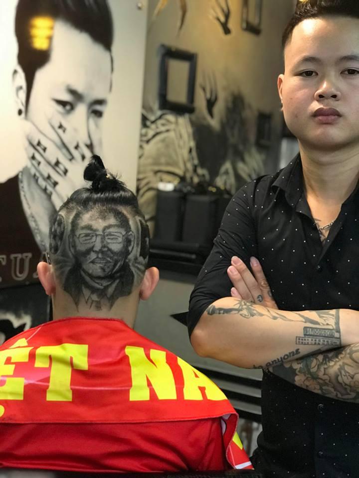 Tác giả của những kiểu tóc in hình HLV Park Hang Seo: Để cắt được một kiểu với hình chân dung phải mất gần 3h đồng hồ - Ảnh 4.