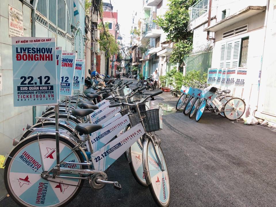 Fan Đông Nhi chịu chơi hết cỡ, phát động chiến dịch đạp xe - tặng vé khắp Sài Gòn quảng bá liveshow của thần tượng - Ảnh 5.