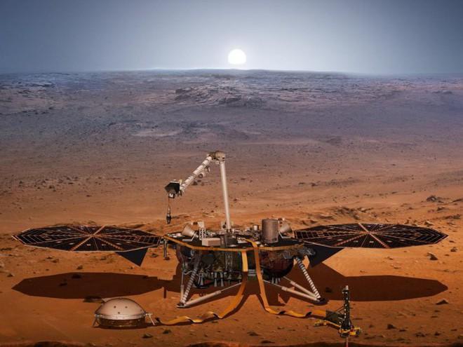 Tàu thăm dò InSight ghi lại âm thanh đầu tiên trên bề mặt Sao Hỏa -