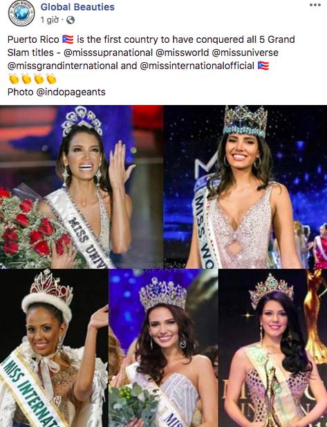 Chiến thắng tại Hoa hậu Siêu quốc gia, Puerto Rico là nước đầu tiên thống trị cả 5 cuộc thi sắc đẹp lớn nhất thế giới - Ảnh 1.